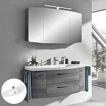 Badmöbel Waschplatz Set mit 121 Waschtisch und