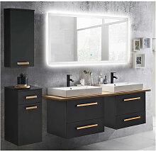 Badmöbel Waschplatz Set mit Doppel-Waschtisch