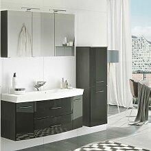 Badmöbel Waschplatz Set mit Midischrank & 120cm
