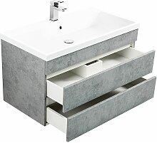 Badmöbel Waschtisch Set mit Unterschrank in Beton