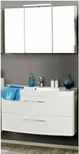 Badmöbel Waschtisch & Spiegelschrank Set