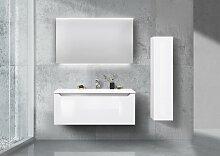 Badmöbel weiß hochglanz grifflos, Waschbecken
