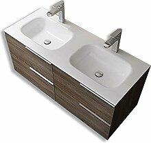 Badmöbelset Vanessa - Doppelwaschbecken und