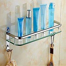 Badregal aus gehärtetem Glas Edelstahlrahmen mit