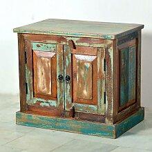 Badschrank aus Massivholz Shabby Chic Design