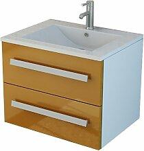 Badset Arosa in orange Waschtisch Waschbecken Bad Set Sanitär Möbel von Jet-Line