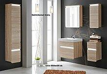 Badset Stella Badmöbel Badmöbelset mit LED und Waschbecken