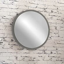 Badspiegel in Grau rund