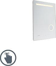 Badspiegel inkl. LED und Touchdimmer mit Uhr -