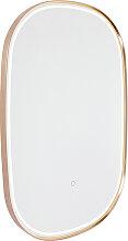 Badspiegel Kupfer inkl. LED mit Touchdimmer oval -