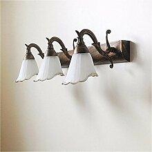 Badspiegel Lampe LED LisaFeng Eisen Farbe Körper und Glas Lampenschirm, Retro wasserdicht Beschlagfrei, drei Farbtöne