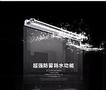 Badspiegel Lampe LisaFeng 360° Rundumlicht wasserdicht Bad Kosmetikspiegel lampe led Licht im Badezimmer, 42cm - weißes Lich