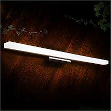 Badspiegel Lampe LisaFeng LED Aluminium Körper und Acryl Lampenschirm, moderne Wasserdicht Beschlagfrei, 80 cm, weiß