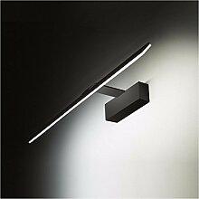 Badspiegel Lampe LisaFeng LED Aluminium Körper und Acryl Lampenschirm, moderne Wasserdicht Beschlagfrei Wandleuchte, Schwarz, 43 CM