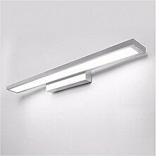 Badspiegel Lampe LisaFeng LED Aluminium Körper und Acryl Lampenschirm, moderne Wasserdicht Beschlagfrei Wandleuchte, Silber, 60 CM, Weiß