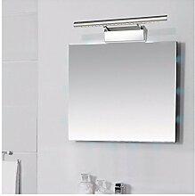 Badspiegel Lampe LisaFeng wc Spiegel lampe led licht moderne, minimalistische Badezimmer Spiegel Edelstahl Schaltschrankleuchten, 55 CM