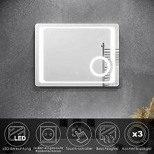 Badspiegel LED Touch mit Beleuchtung Beschlagfrei