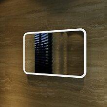 Badspiegel Lichtspiegel Kupfer / bleifreie Spiegel Wandspiegel 40 x 60cm kaltweiß IP44 energiesparend
