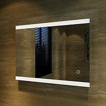 Badspiegel Lichtspiegel LED Spiegel Wandspiegel 60 x 80cm kaltweiß IP44 energiesparend