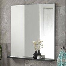 Badspiegel mit Ablage CHARLESTON-61 in schwarz,