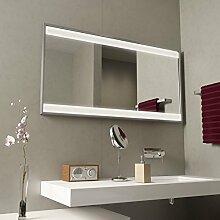 Badspiegel mit Alurahmen Claire - B 1600mm x H 800mm - neutralweiss