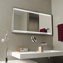 Badspiegel mit Alurahmen Zafira - B 800mm x H 600mm - neutralweiss