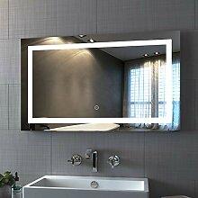 Badspiegel mit Beleuchtung 100 x 60 cm LED Spiegel
