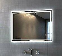 Badspiegel mit Beleuchtung 80 x 60 cm LED Spiegel