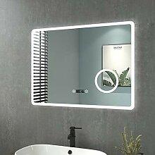 Badspiegel mit Beleuchtung 90x70cm Wandspiegel