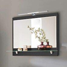 Badspiegel mit Glasablage LED Beleuchtung