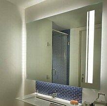 Badspiegel mit Lichtauslass Luna - B 700mm x H 1200mm - neutralweiss