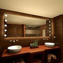 Badspiegel mit Punkten Rays - B 700mm x H 1100mm - neutralweiss