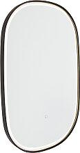 Badspiegel schwarz inkl. LED mit Touchdimmer oval