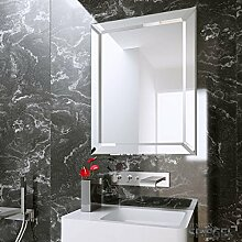 Badspiegel Wandspiegel groß mit Rahmen Silber -