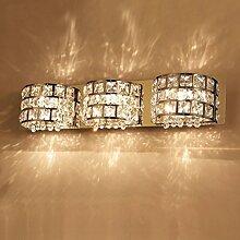 Badspiegelleuchten Spiegel-Lampe, Badezimmer führte Lampe, Badezimmer-Spiegel-Lampe, europäische Kristall-Wand-Lampe, Badezimmer-Aufbereiter-Verfassungs-Lampe Badezimmerleuchten ( größe : 9w55cm )