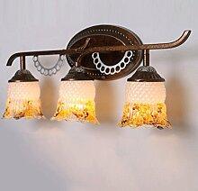 Badspiegelleuchten Spiegel vorne Lichter, American-style ländlichen LED energiesparende Spiegel Scheinwerfer, Bad wasserdichte Retro-Spiegel Scheinwerfer Badezimmerleuchten