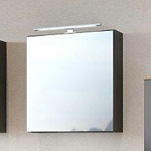 Badspiegelschrank in dunkel Grau 60 cm breit