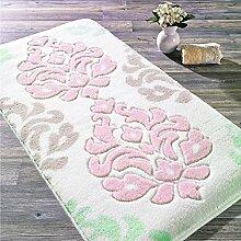Badteppich Badmatte Duschvorleger Rosa Floral