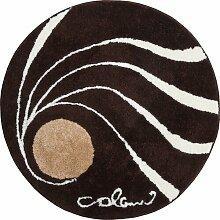Badteppich Colani Grund Farbe: Braun