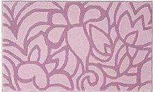 Badteppich Flower Shower Farbe: Pastell Rosa,