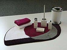 Badteppich kringel violett Badematte Badgarnitur
