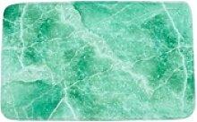 Badteppich Marmor Grün 70 x 110 cm