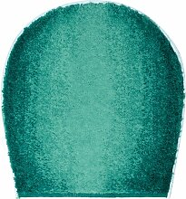 Badteppich Moon Grund Farbe: Petrol