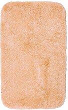 Badteppich OLBIA apricot 65 x120cm Badematte Badezimmerteppich Badgarnitur Badvorleger Duschmatte Badtextilien