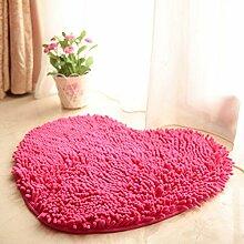 Badteppich, Outgeek Badematte Rutschfeste Absorbierende Herzförmige Duschmatte für Badezimmer
