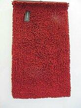 Badteppich Rot Flokati Nevada Aquanova, Größe:60x100