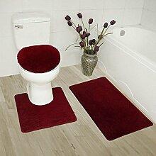 Badteppich-Set für Badezimmer, Rutschfest,