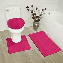 Badteppich-Set für Badezimmer, Rutschfeste