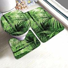 Badteppich-Set Palmen und exotische Pflanzen im