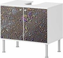 Badunterschrank Badezimmer bunte Tropfen 2 Designer Schrank schickes Design NEU 100BADU479